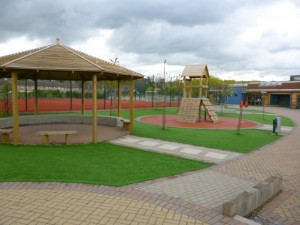 Artificial Grass in school